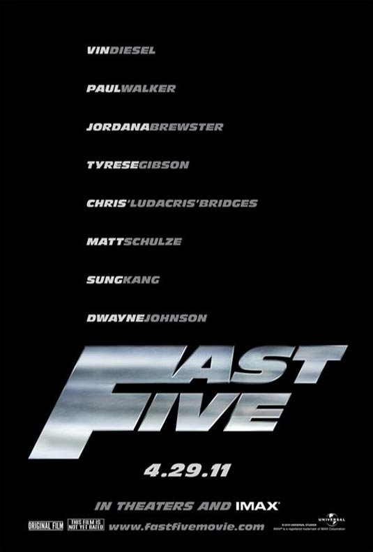 the fast five poster. Fast and Furious 5: Fast Five