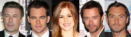 Alec Baldwin, Chris Pine, Isla Fisher, Hugh Jackman, Jude Law