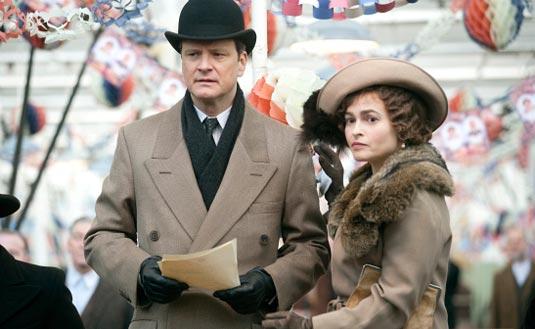The King's Speech - Colin Firth, Helena Bonham Carter and director Tom Hooper all up for Oscar gold