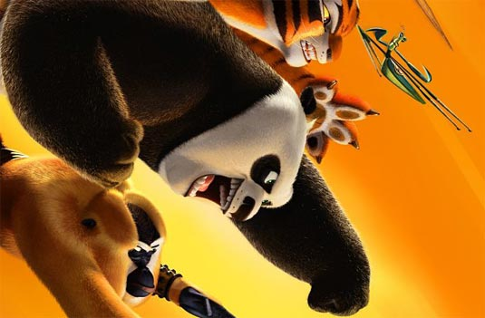 The upcoming kung fu panda 2 the animated movie and set to be in 3d