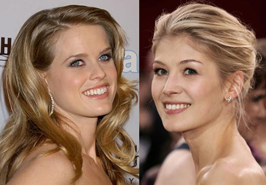 Alice Eve and Rosamund Pike