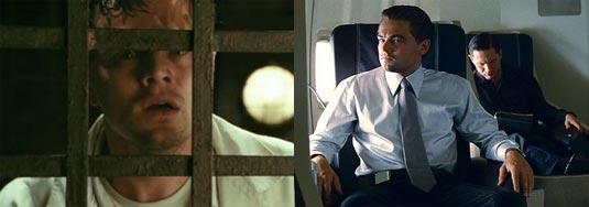Leonardo DiCaprio in Shutter Island and Inception