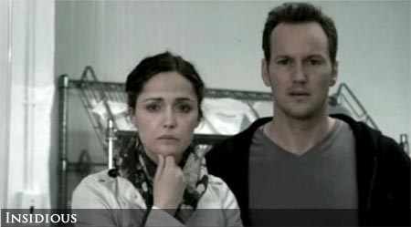 Rose Byrne and Patrick Wilson in Insidious