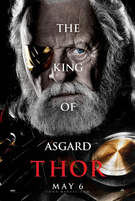Thor Poster, Anthony Hopkins as Odin