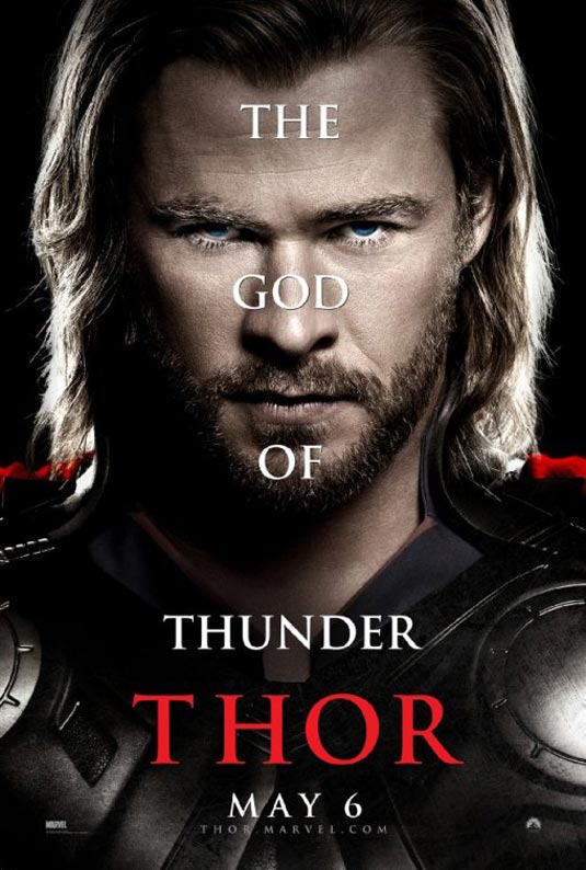 Thor Poster, Chris Hemsworth as Thor