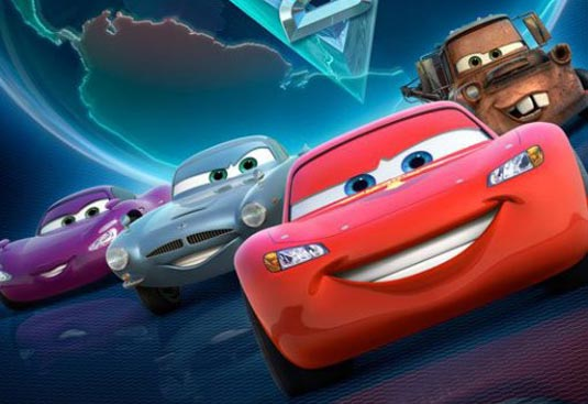 McQueen, Mater, Finn McMissile and Holley Shiftwell, Cars 2 (2011)