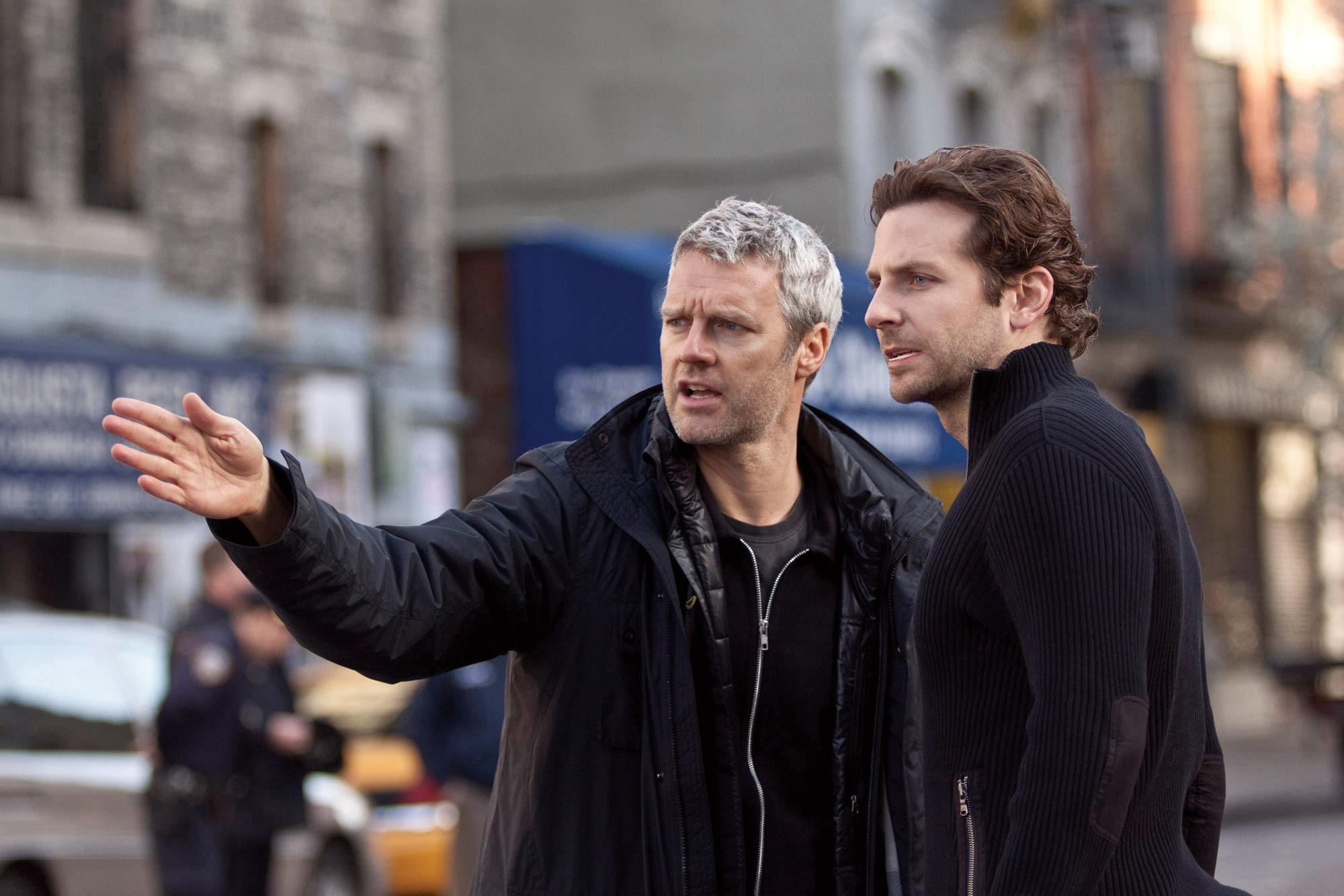 Bradley Cooper and Neil Burger in Limitless