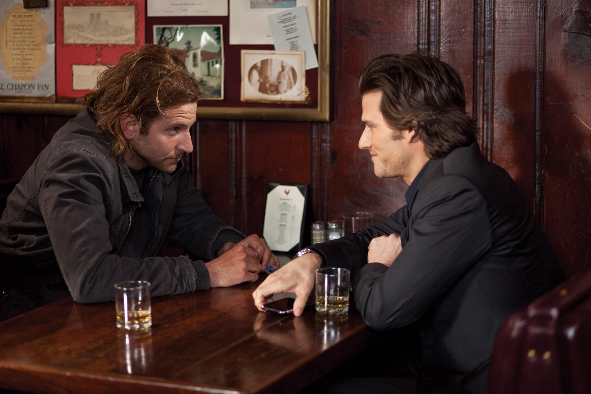 Bradley Cooper and Johnny Whitworth in Limitless
