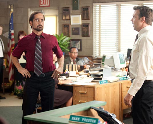 Colin Farrell and Jason Sudeikis in Horrible Bosses