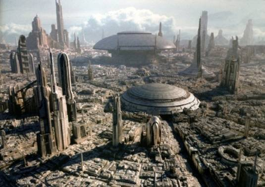 Coruscant-like Krypton, Man of Steel