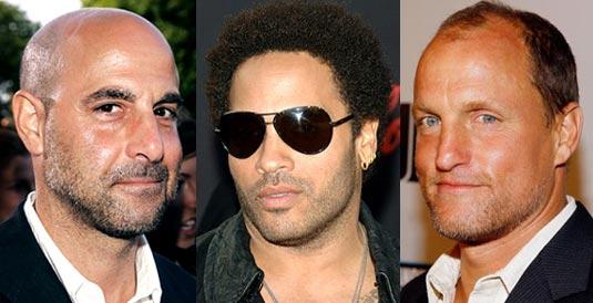 Stanley Tucci, Lenny Kravitz, Woody Harrelson