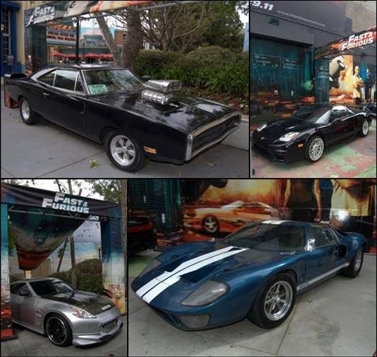 "Original Cars From ""Fast Five"" Rev Up At Universal Studios"