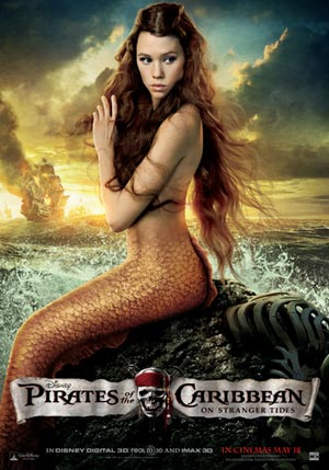 Astrid Berges-Frisbey as the mermaid Syrena, Pirates of the Caribbean: On Stranger Tides