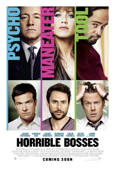 Horrible Bosses poster.
