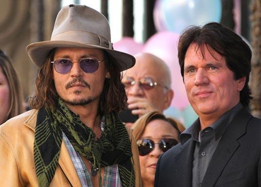 Johnny Depp and Rob Marshall