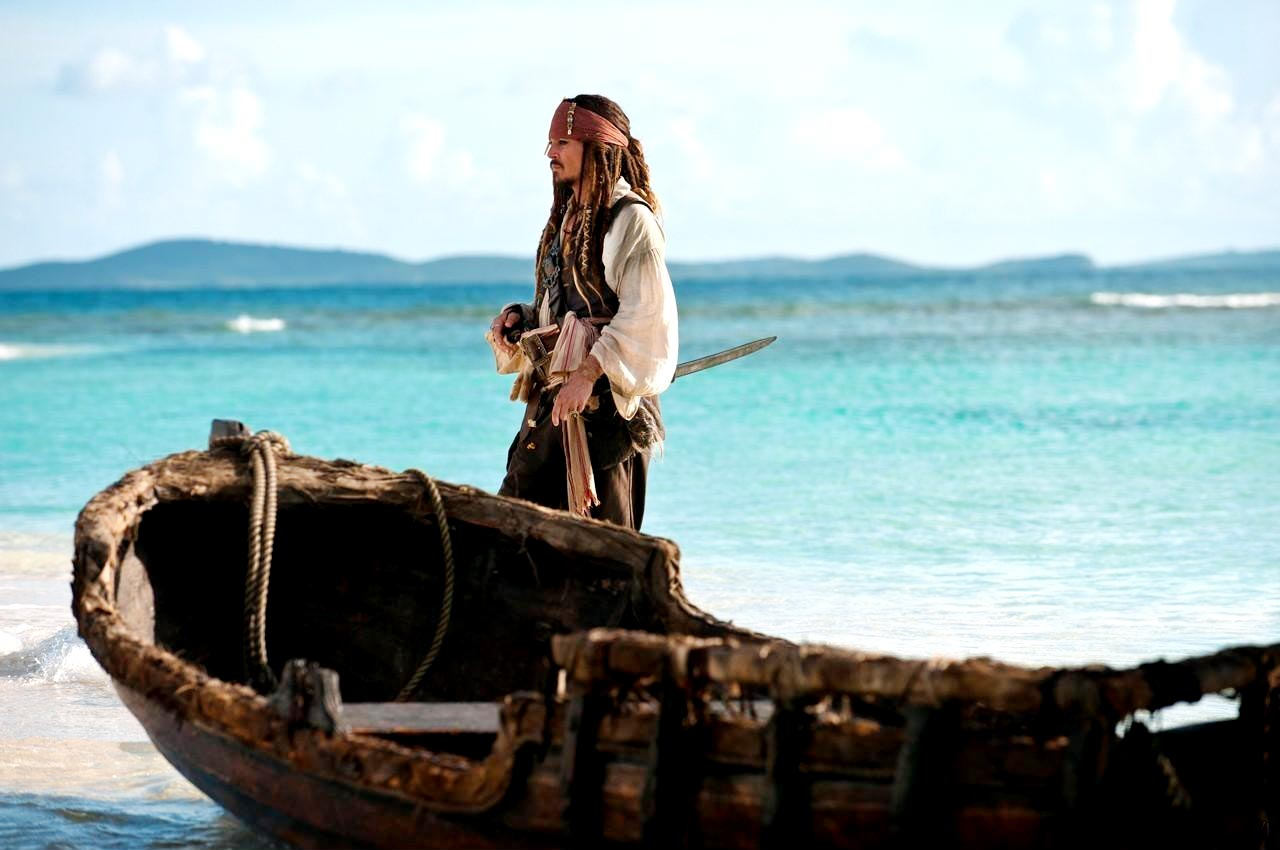 Captain Jack Sparrow (Johnny Depp) ,Pirates of the Caribbean 4