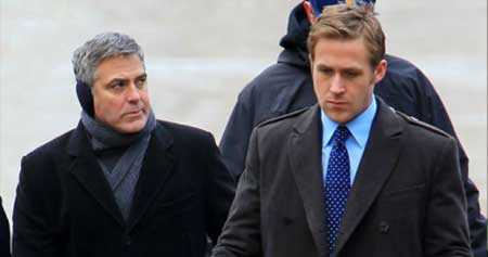 George Clooney and Ryan Gosling in The Ides of March