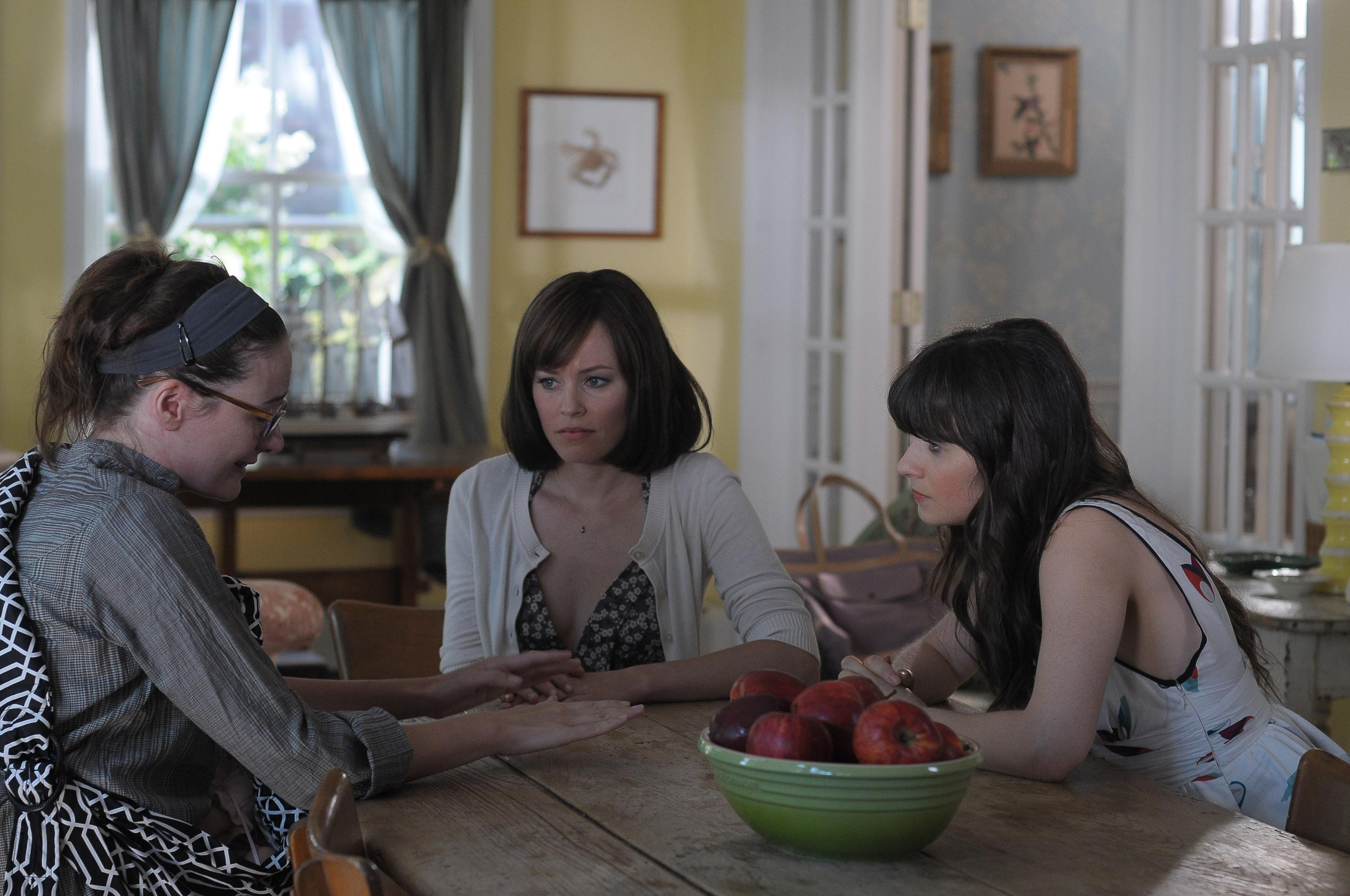 Elizabeth Banks, Zooey Deschanel and Emily Mortimer in Our Idiot Brother