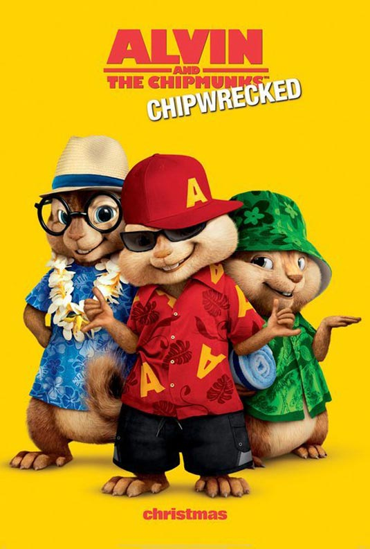 Alvin and the Chipmunks: Chip-Wrecked Poster