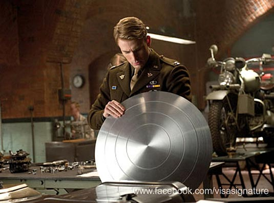 Chris Evans as Steve Rogers in Captain America: The First Avenger