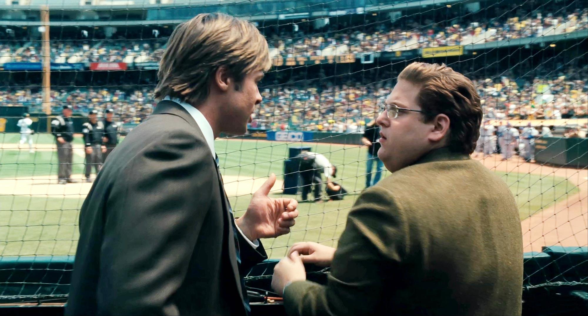 Brad Pitt and Jonah Hill, Moneyball