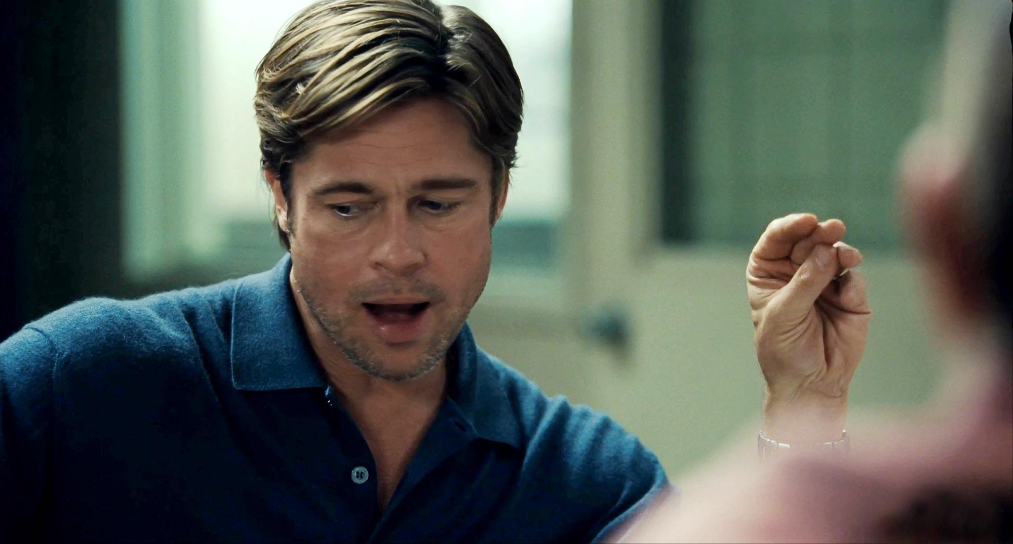 Brad Pitt as Billy Beane in Moneyball