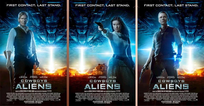 Cowboys aliens character posters