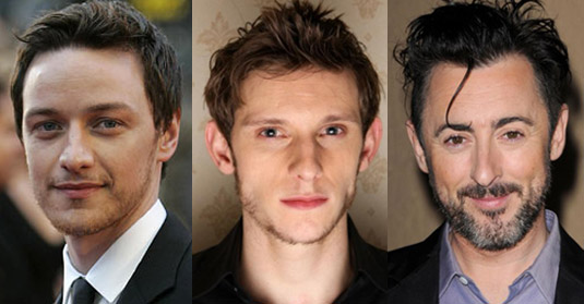 James McAvoy, Jamie Bell and Alan Cumming