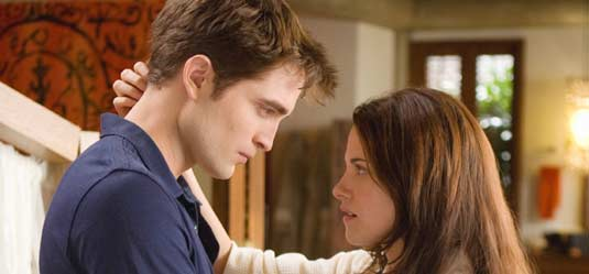 Robert Pattinson and Kristen Stewart in Breaking Dawn