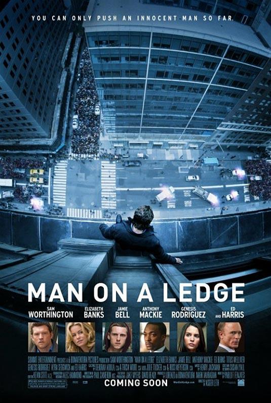 Man on a Legde Poster