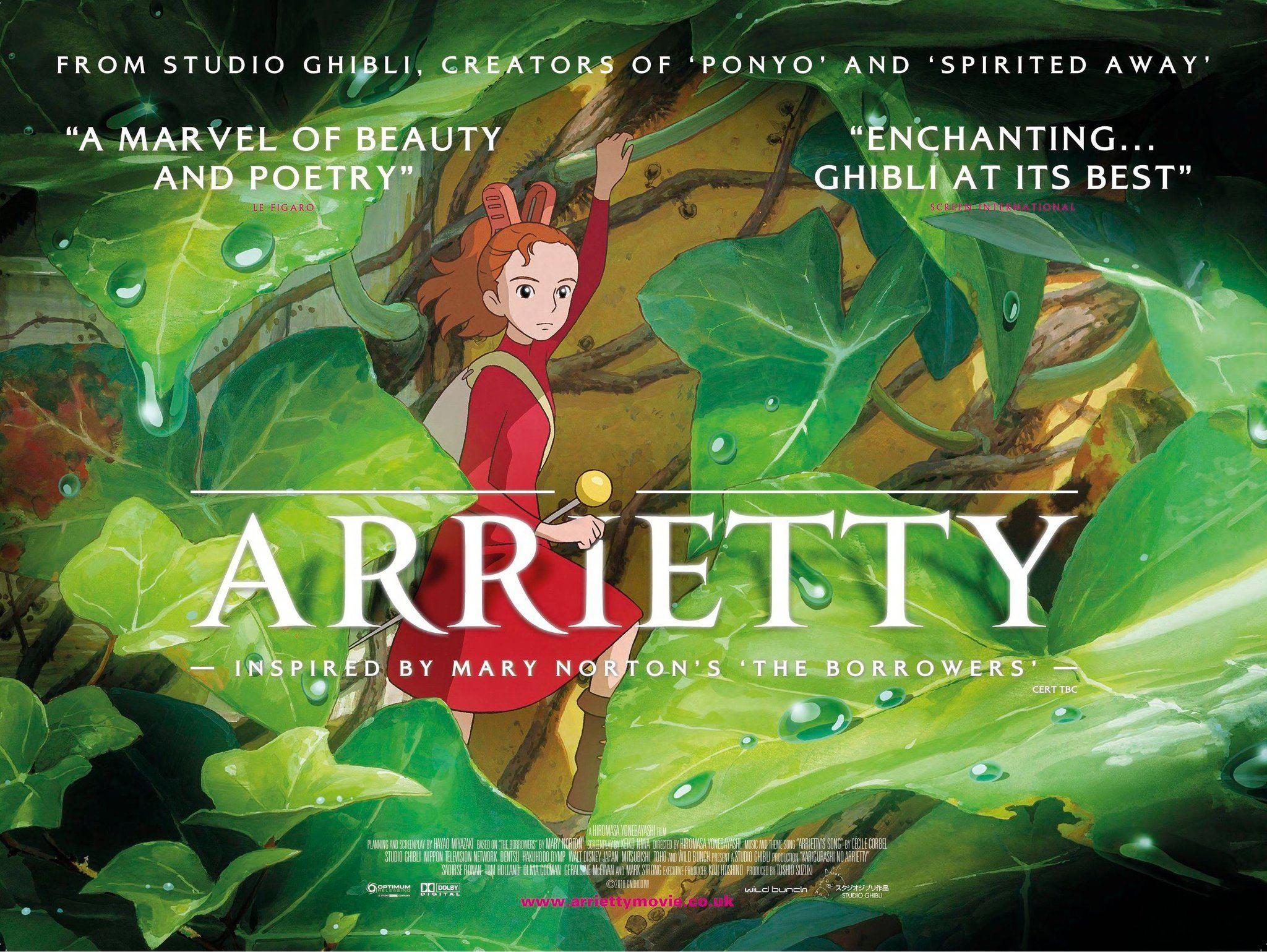 The Secret World Of Arrietty Trailer And Poster Filmofilia