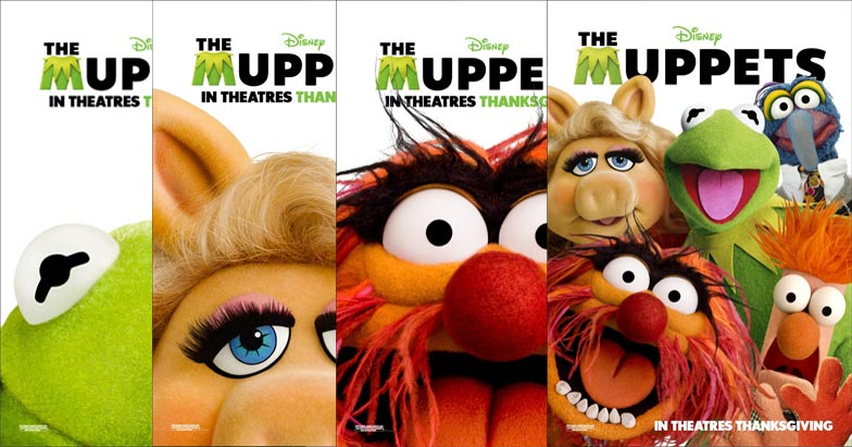 Movie Posters 2011: Four New THE MUPPETS Posters