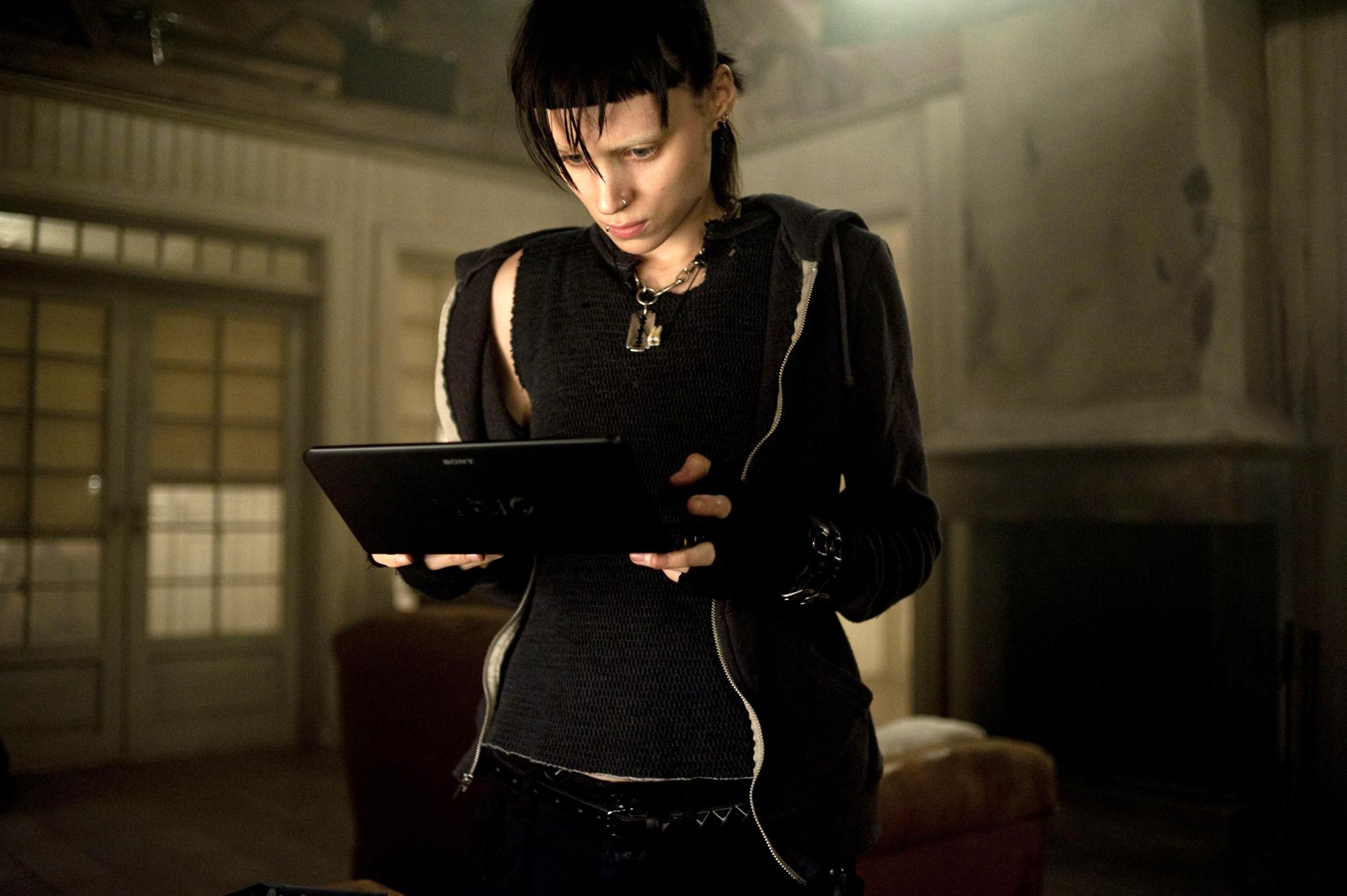 Rooney Mara as Lisbeth Salander, The Girl with the Dragon Tattoo