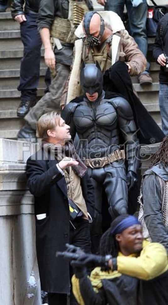 The Dark Knight set photo