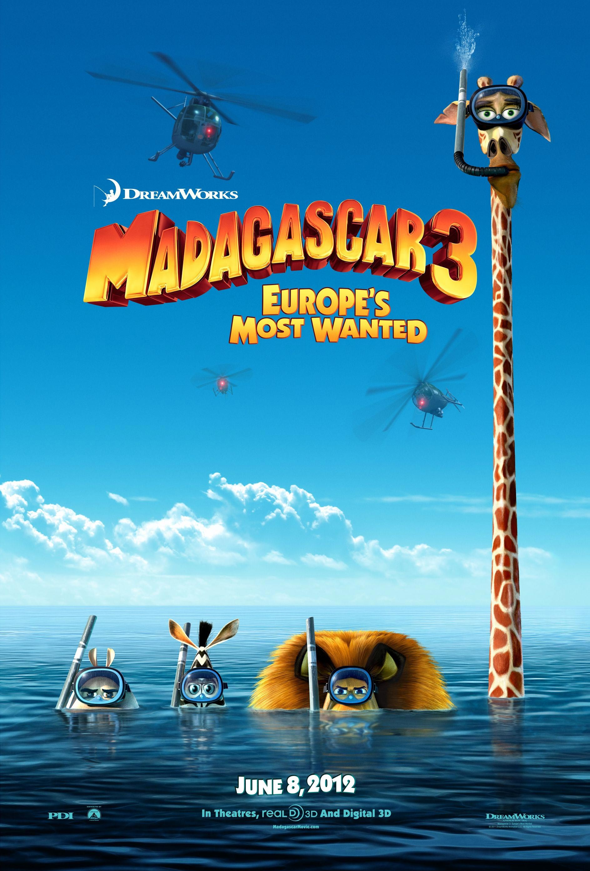 Madagascar 3 europe's most wanted trailer and two posters