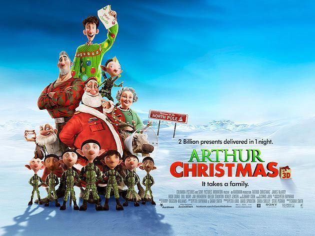 ARTHUR CHRISTMAS Nominated for Golden Globe, Critics' Choice and ...