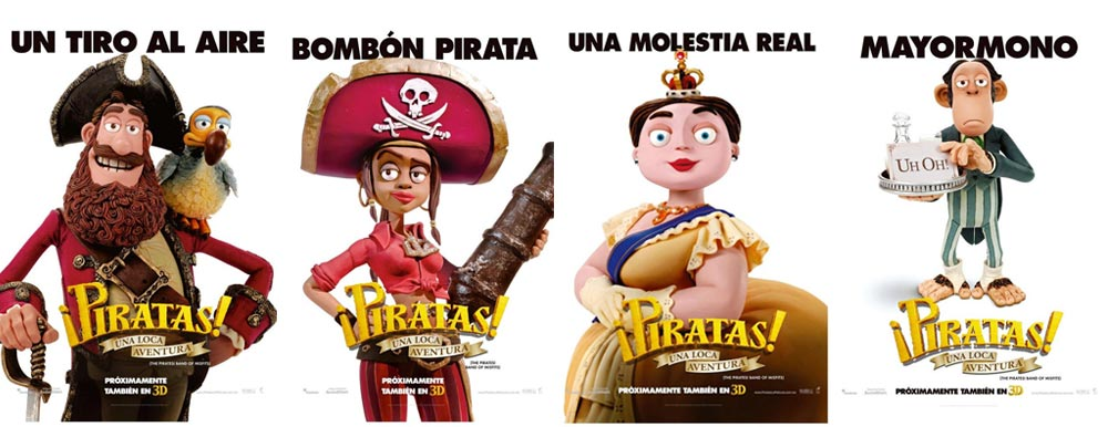Four New The Pirates Band Of Misfits Character Posters Filmofilia