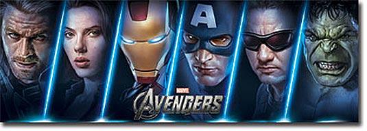 The Avengers Door Poster