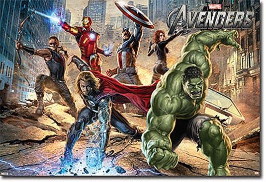 The Avengers Mural Poster