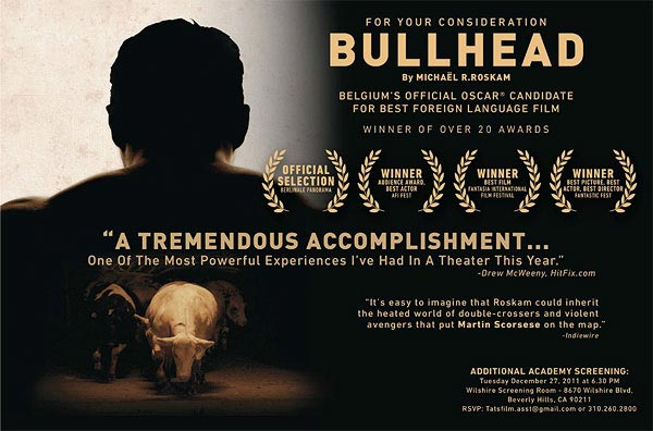 Oscar nominated drafthouse films 39 bullhead to get limited for Oscar awards winning movies