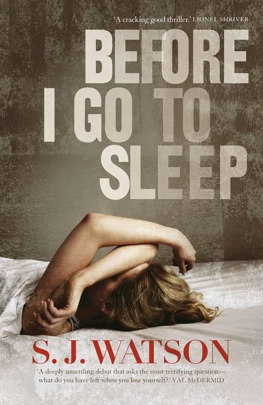 Before I Go to Sleep, Cover