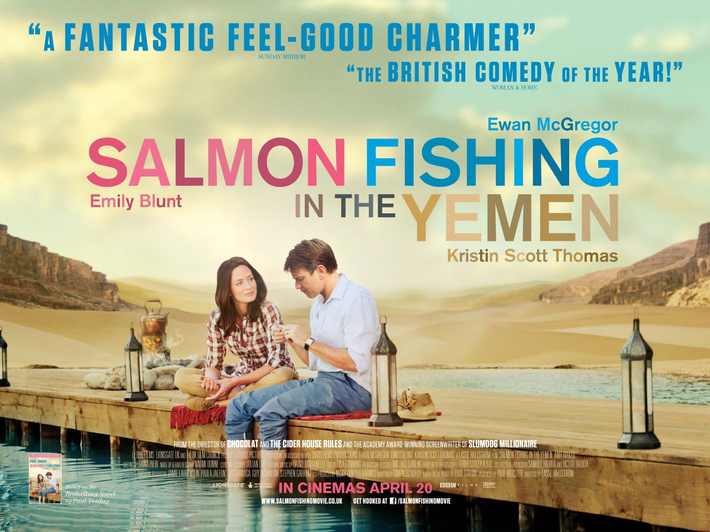 salmon fishing in the yemen quad poster