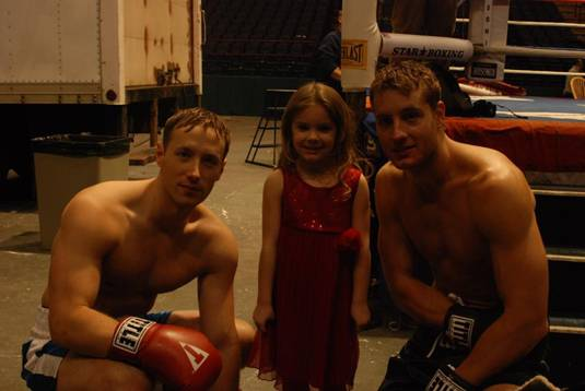 Justin Hartley and Kent Moran filmed scenes at the Times Union Center