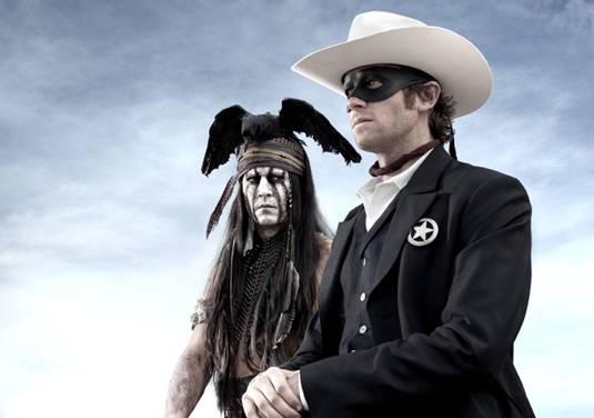 The Lone Ranger - Johnny Depp, Armie Hammer