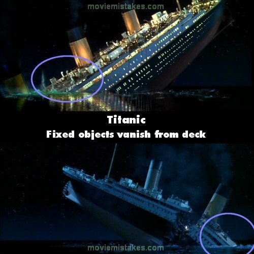 Titanic Movie Mistake