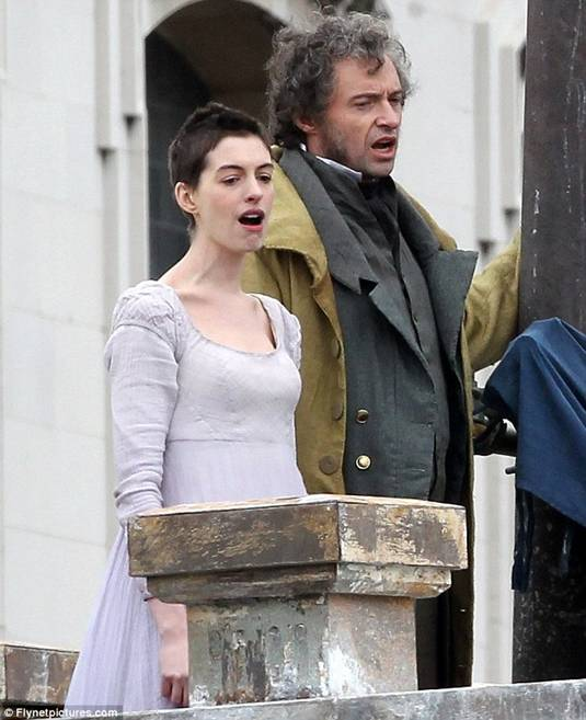 First Look: Anne Hathaway And Hugh Jackman In LES MISERABLES