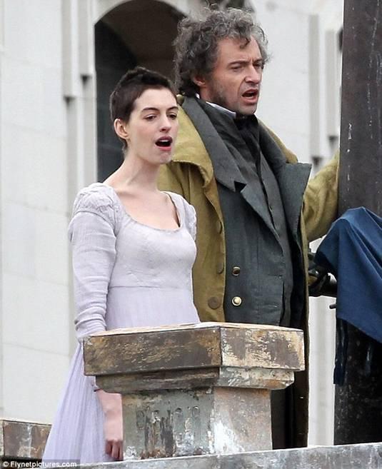 Anne and Hugh on Les Miserables Set