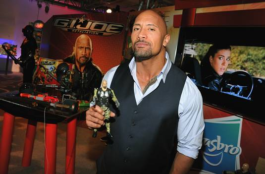 Dwayne Johnson - G.I. Joe 2 - Toy Fair