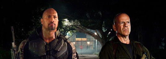 Dwayne Johnson and Bruce Willis in G.I. Joe Retaliation