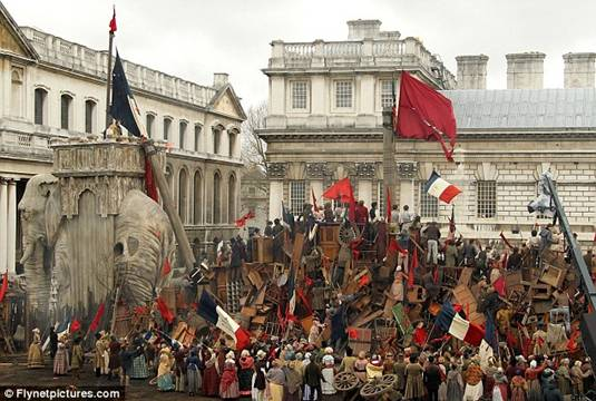 Les Miserables Scenes Filmed at Greenwich College, London